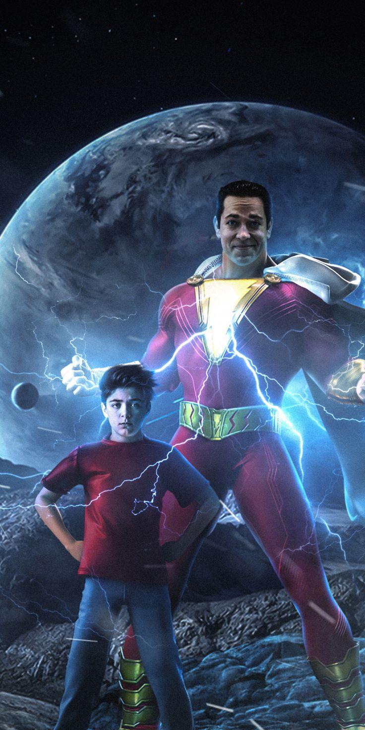 Shazam!, superhero, dc studio, 2018, 1080x2160 wallpaper