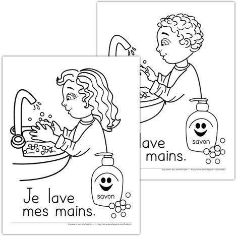 Affiches ''Je lave mes mains''