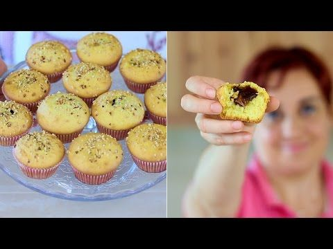 MUFFINS CUOR DI NUTELLA Ricetta Facile - Nutella Heart Muffins Recipe - YouTube