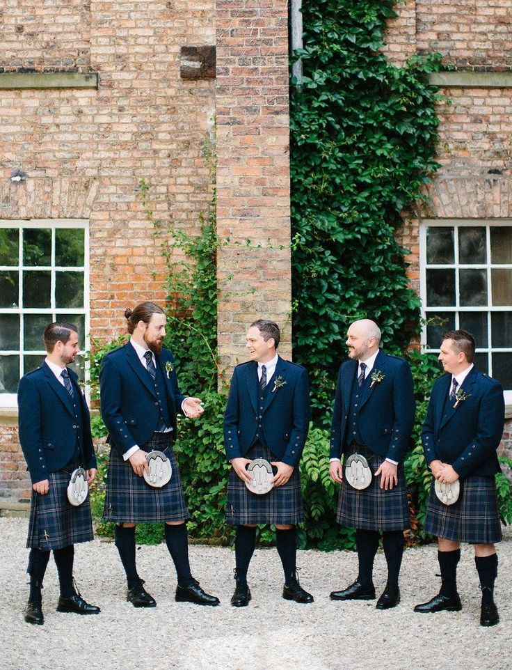 Graeme was married at Saltmarshe Hall last year. He and his groomsmen looked dapper in our exclusive Arran Mist kilt outfits.