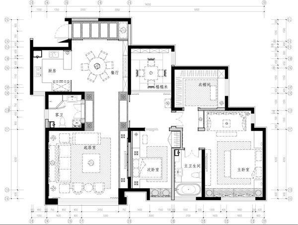 Four Seasons Las Vegas Floor Plan: 古朴自然的新中式家居