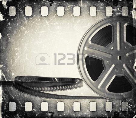 Grunge alten Kinofilmrolle mit Filmstreifen Vintage background Stockfoto - 29344542