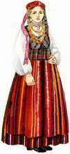 Литовский национальный костюм фотографии картинки