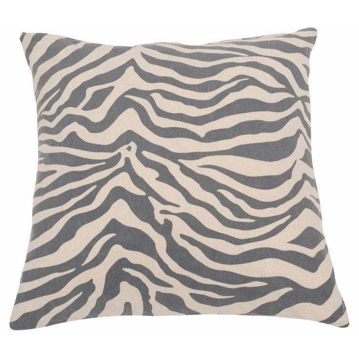 Putetrekk Antrasitt Zebra - Puter/Trekk/Sitteputer - By Lysneshjem