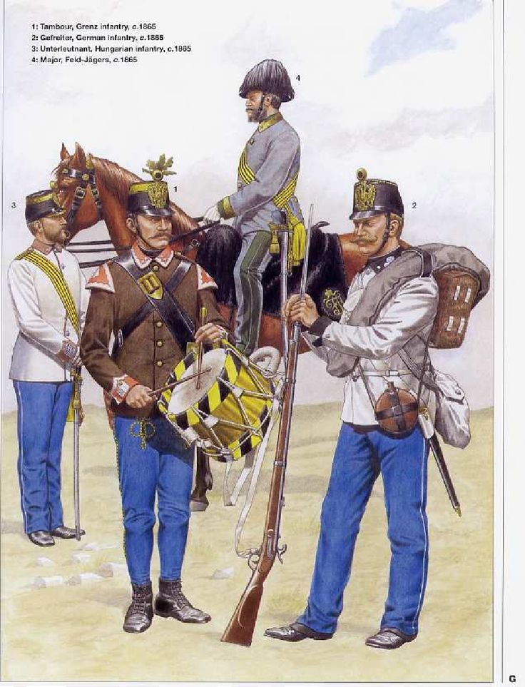 Infantry uniforms of the Austrian Empire 1836-1866