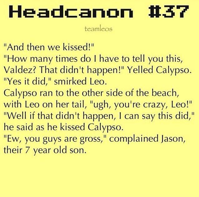 Yes! Headcanons... Leo and Calypso... | Percy Jackson headcanons ...