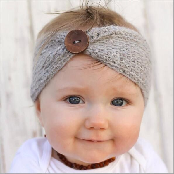 1 stks meisje wol gebreide hoofdbanden winter kids pasgeboren haar hoofd wrap tulband hoofdband hoofddeksels headwrap haaraccessoires hoofdtooi