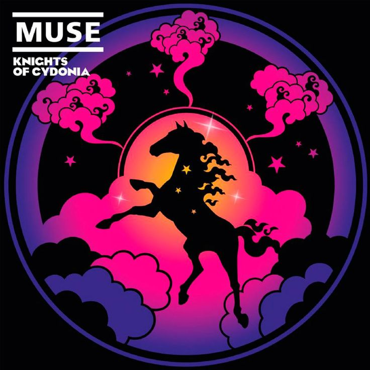 "2006 Muse - Knights Of Cydonia (7"") [Warner Bros. 510118248-7] illustration by Jasper Goodall #albumcove"