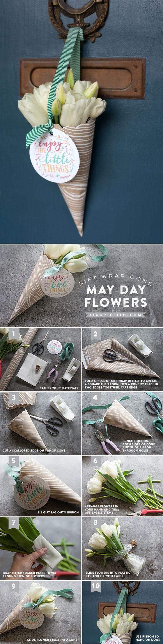 #Maydaybasket #diy #freeprintable at www.LiaGriffith.com