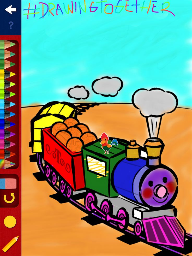 Choo Choo!!! Happy monday =D #DrawingTogether #Color #Play #Draw #Share #Tipitap #Appsforkids
