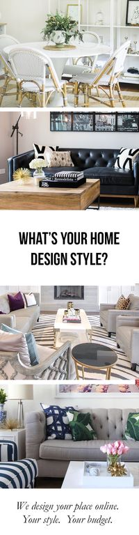 Design your dream room with our professional interior decorators. Order it all online, shipped directly to your door. Your new room is just a click away! Determine your style with our effortless style survey.