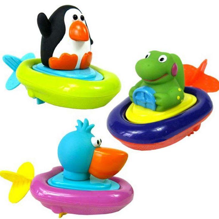 Swimming Bath Toys Penguins Crocodile Sassy Pull Swimming ...