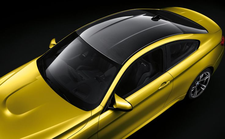 The BMW M4 Coupe in Austin Yellow Metallic with Carbon Fiber roof