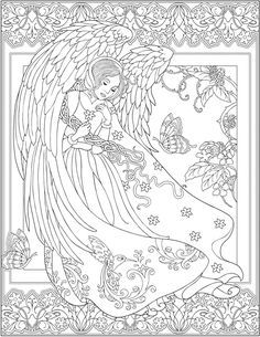 creative haven elegant angels coloring book by marty noble welcome to dover publications coloring page - Coloring Book Angels