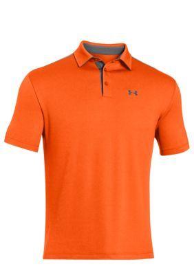 Under Armour Orange Leader Board Tech Polo Shirt