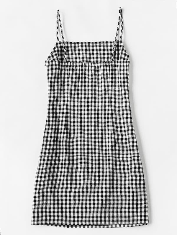 Gingham Print Cami Dress Shein Cami Dress Checkered Dress Cami Slip Dress