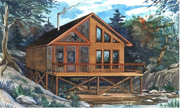 56 best country cabin images on pinterest cabin porches for Country cabin kits