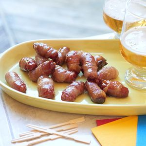 Bacon Wrapped Smokies with Brown Sugar and Butter | MyRecipes.com