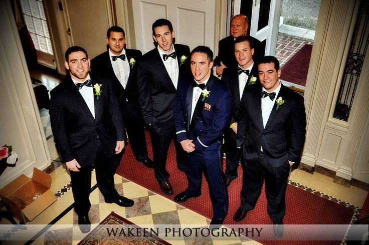 Air Force groom and his groomsmen are calm, cool and collected at the Harding-Allen Estate in Barre, MA!