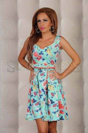Rochie LaDonna Floral Beauty Turquoise