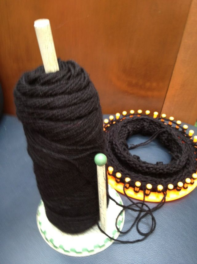 Knitting Wool Holder Hobbycraft : Used a paper towel holder to put my yarn and be able