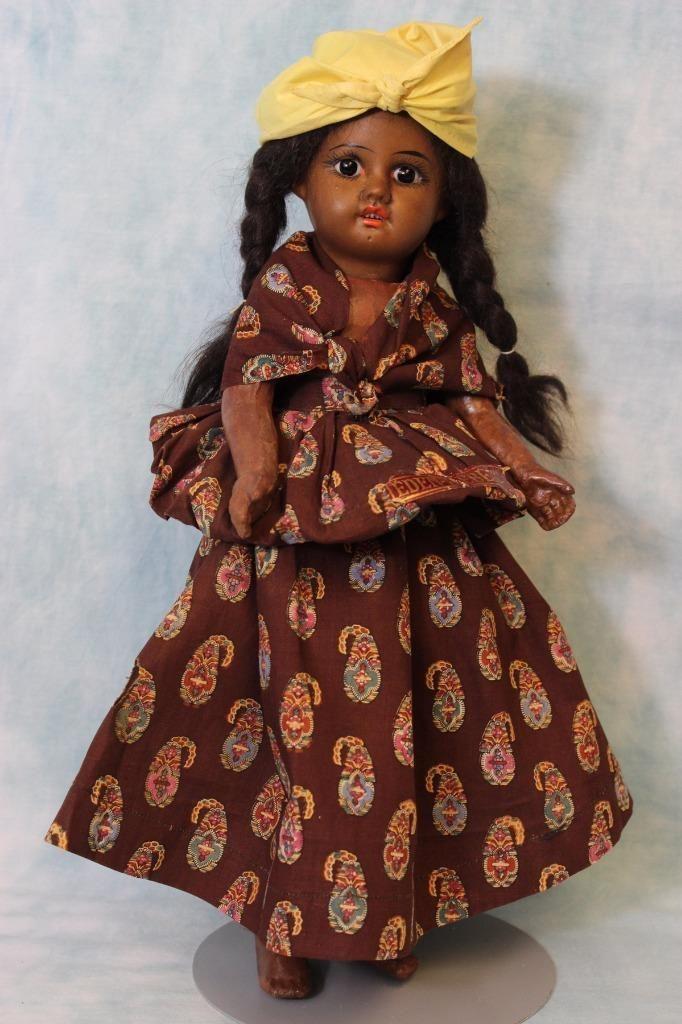 "15"" Black French Eden Bebe Bisque head Original Martinique costume, orig wig | eBay"