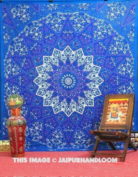 Purple Mandala Tapestry Psychedelic Dorm Tapestry College Room Wall Hanging Part 72