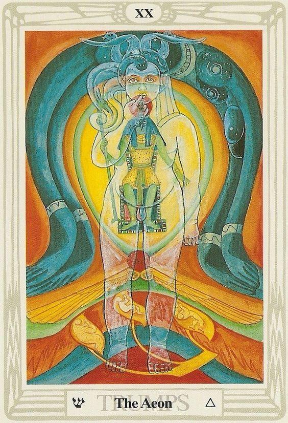 judgement  thoth in 2020  tarot major arcana aleister