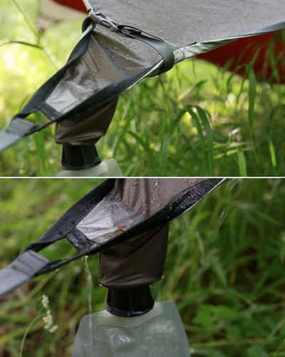 Camping rain catch #Preppers/Survivalists: Hammock Tent with a 'Rain Catching' Tarp. http://dunway.us/kindle/html/frugal1.html