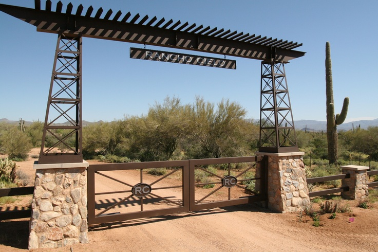 Colletti design iron gates and ranch entry scottsdale for Ranch entrance designs