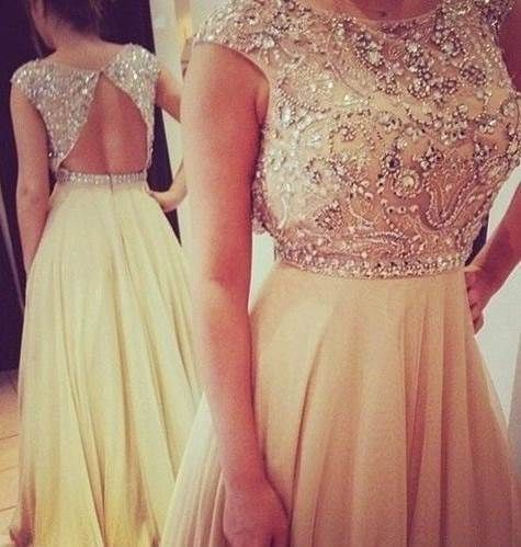 Chiffon Beading Prom Dress