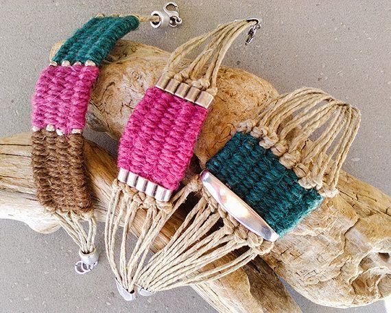 Boho wrap bracelet for women woven bead by myTotalHandMade on Etsy