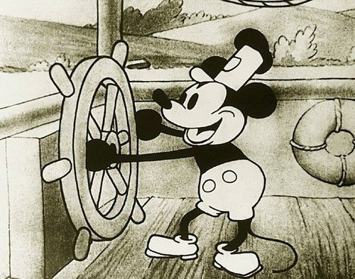 Walt Disney. Steamboat Willie. 1928