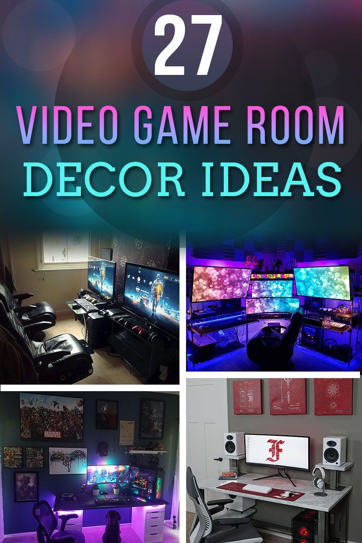 Design Your Room Game: 27 Video Game Room Ideas To Build Your Own Gaming