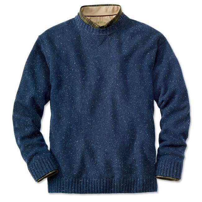 Wool Cashmere Crew Neck Sweater - Wool-Cashmere Donegal Crew -- Orvis on Orvis.com!
