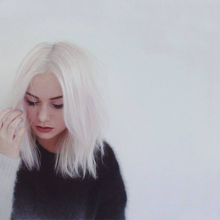 cheveux blancs en carr 25 jolies faons de porter les cheveux blancs elle - Coloration Sans Dcoloration