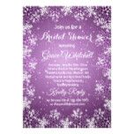 Snowflakes on purple Christmas Bridal SHower Card