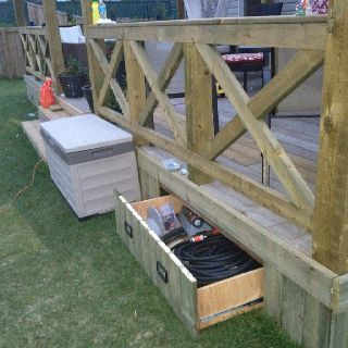 My deck.. Another drawer under the deck hidden by the skirting...                                                                                                                                                     More