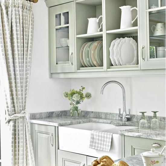 Pick pastel paint for a soothing kitchen space