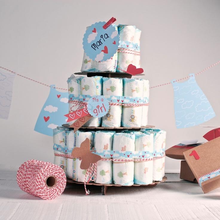 el blog de Self Packaging: Cómo hacer un pastel de pañales