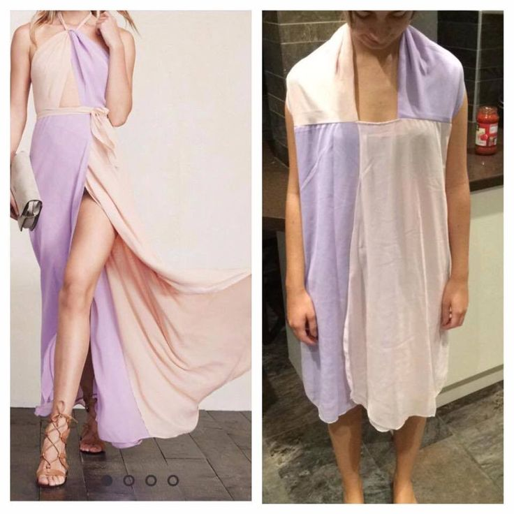 These dress fails are why you don't buy clothes online... A Facebook group called Knock Off Nightmares is exposing online retailer scams to warn shoppers of the risks they face with online shopping.  Many scam victims have been posting photos to the group, highlighting the differences between the advertised product and what they received.
