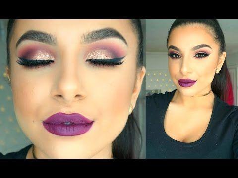 Winter makeup for brunettes