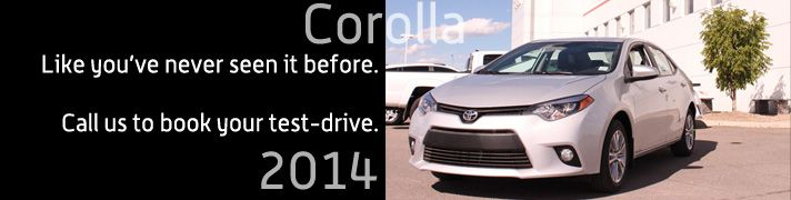 Welcome to your Calgary Toyota Dealership for New and Used Cars - Country Hills Scion Toyota. 2014 Toyota Corolla