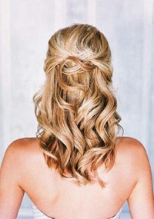 Bridesmaid hair idea for my brothers wedding!