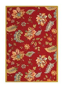 Add a mid-century ambiance to your kitchen with the handsome Jacobean Hand-Hooked Wool Rug that offers an artistic touch and comfortable fleeing underfoot.Handhook Area, Area Rugs, Jacobean Hands Hooks, Chelsea Hk306C, Wool Rugs, Hands Hooks Wool, Safavieh Chelsea, Hk306C Red, Botanical Red