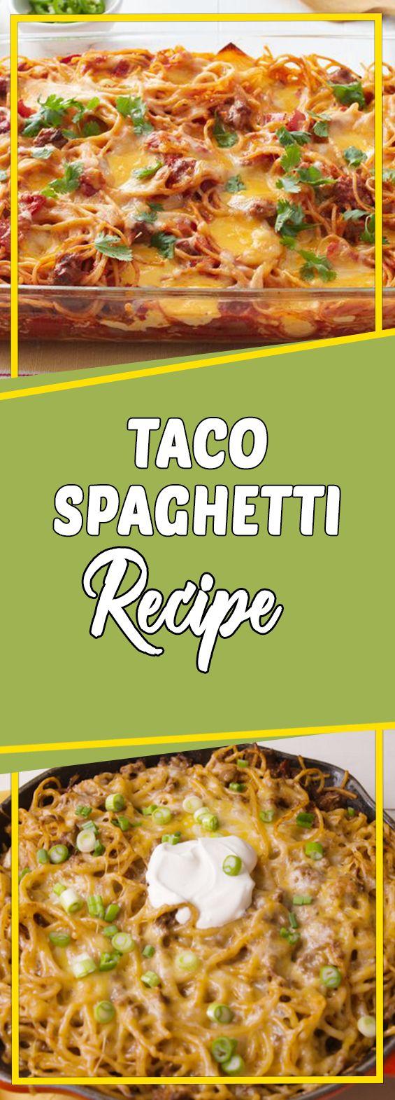 Taco Spaghetti Recipe #breakfast #recipeoftheday #recipeideas #dinner #breakfastrecipes #lunch