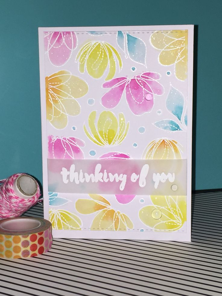 Love the Simon Says Stamp Spring Flowers Set. I coloured it with Distress Ink and added some clear Wink of Stella.