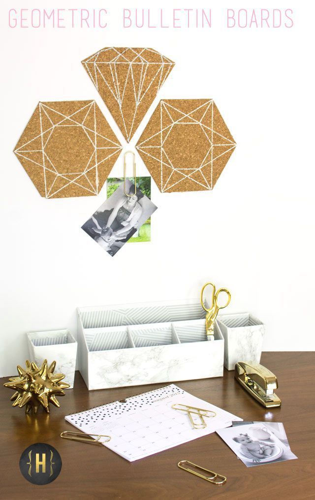 Geometric Cork Bulletin Boards - Homeology Modern Vintage