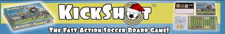 Masthead image for KickShot Soccer Board Game created by McKenzie Stevens, senior at the University of Idaho Virtual Technology and Design program.