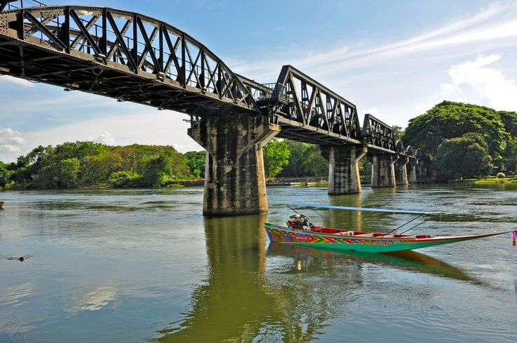 "River Kwai and the floating market. Saying ""goodbye"" to Thailand…"